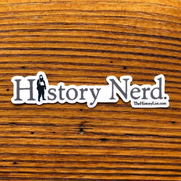 """History Nerd"" Sticker with WWII Airman from The History List Store"