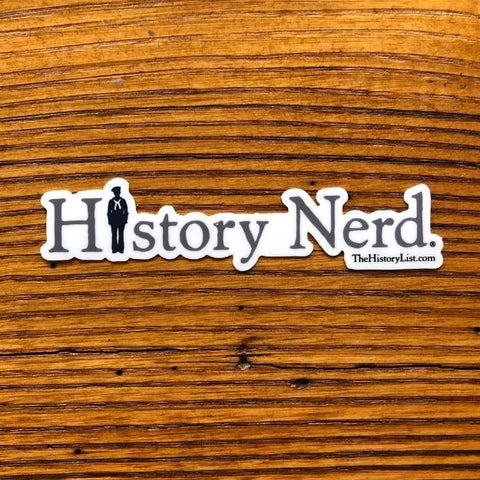"""History Nerd"" Sticker with WWII Sailor from The History List Store"