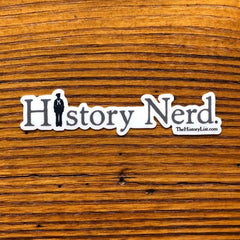 """History Nerd"" Sticker with WWII Sailor"