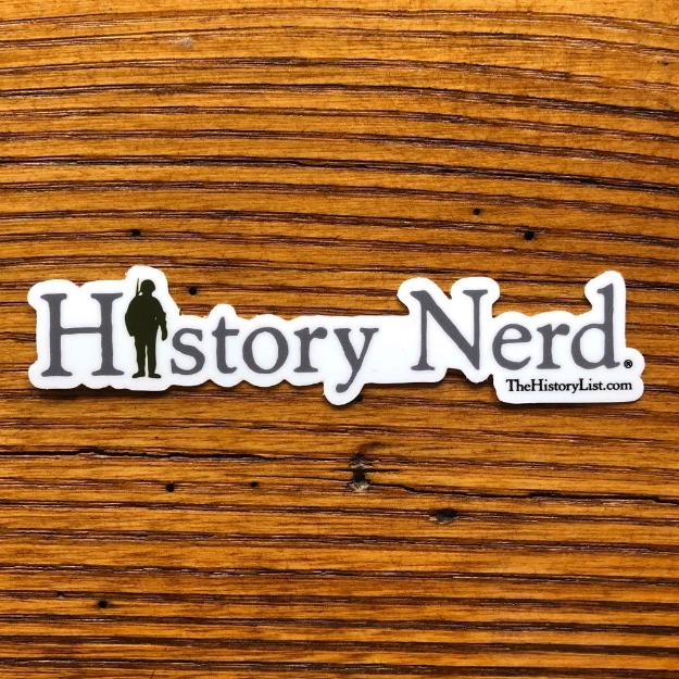 """History Nerd"" Sticker with WWII Soldier from The History List Store"