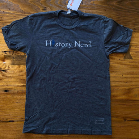 """History Nerd"" shirt with Ben Franklin from The History List Store"
