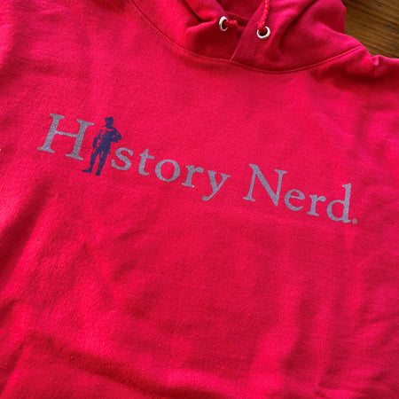 """History Nerd"" with Teddy Roosevelt - Hooded sweatshirt"