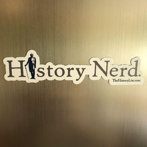"""History Nerd"" magnet with George Washington from The History List Store"