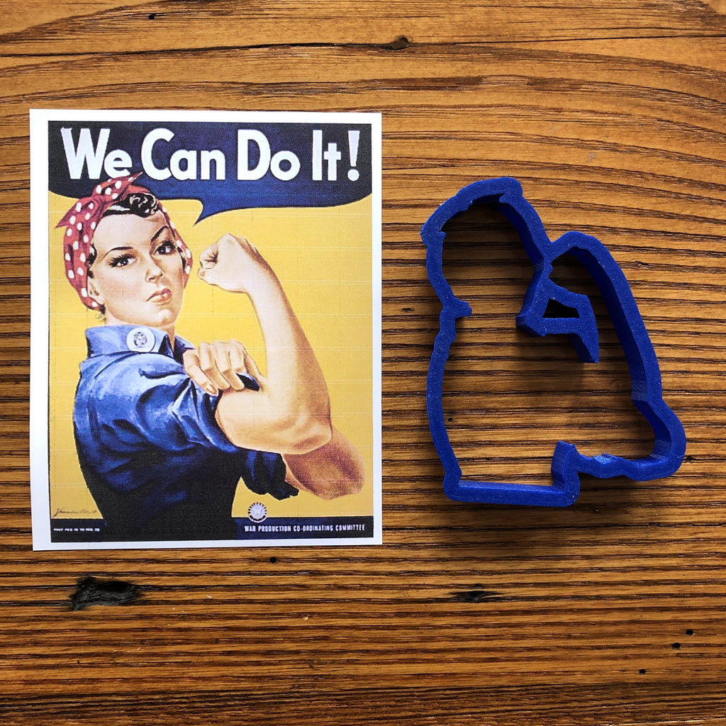 """Rosie the Riveter"" Cookie cutter from The History List Store"