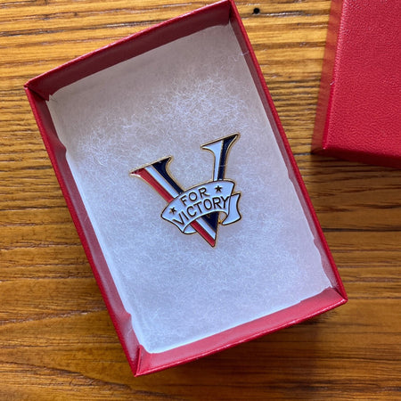 """V for Victory"" Pin"