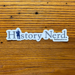 """History Nerd"" sticker with Ulysses S. Grant"