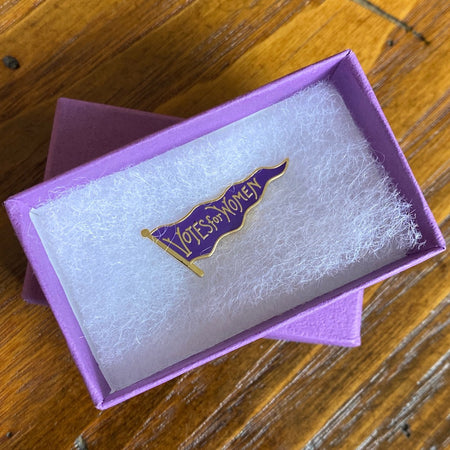 """Votes for Women"" Pin - Purple"