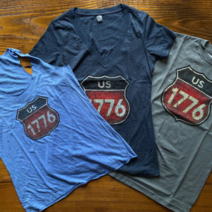 """Route 1776"" T-shirt and Tank top for women"