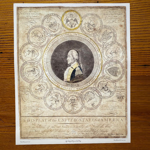 """George Washington and the 13 States"" Historic poster"