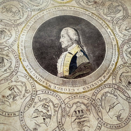 """George Washington and the 13 States"" Historic print"