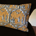 Revolutionary pillow with historical image celebrating July 4, 1776
