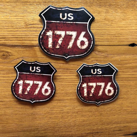 """Route 1776"" bumper sticker from The History List Store"
