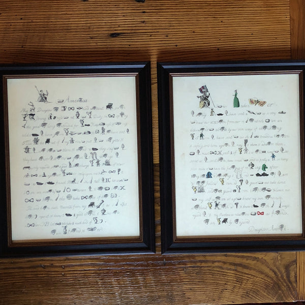 "Framed Set of Revolutionary Documents: ""America to her Mistaken Mother"" and ""Britannia to America"" from The History List Store"