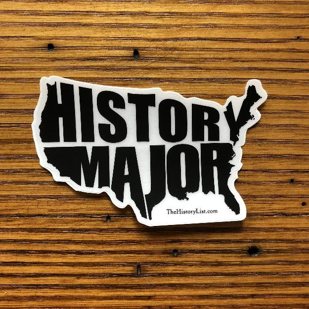 """History Major"" sticker from The History List Store"