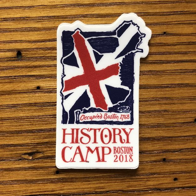 """History Camp Boston 2018"" sticker from The History List Store"