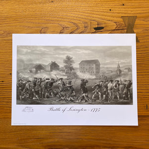 """Battle of Lexington 1775"" small poster"