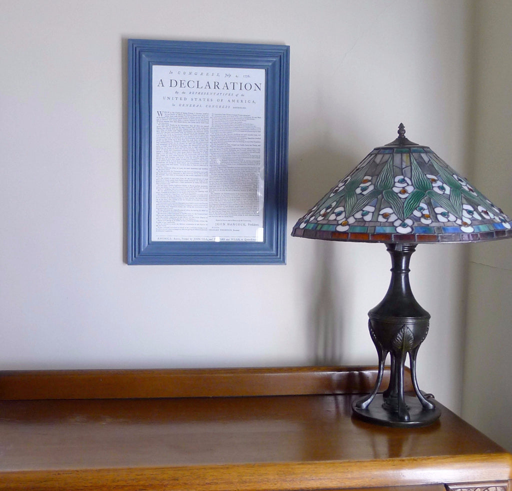 "Framed ""Declaration of Independence"" letterpress print from The History List Store"