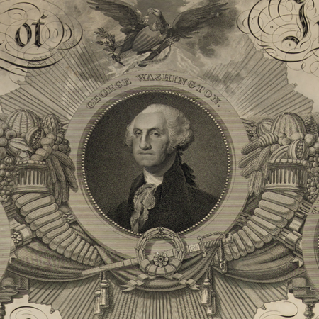"Historic ""Declaration of Independence"" Engraving by publisher John Binns as a small poster"