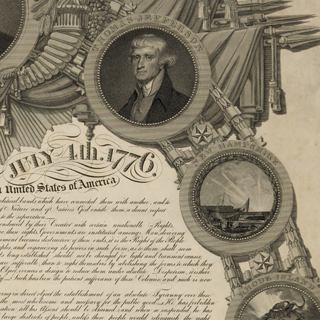 "Historic ""Declaration of Independence"" engraving by publisher John Binns — Limited edition archival print"