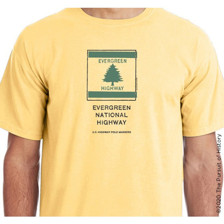 """America's Highway Pole Markers Series: Evergreen National Highway"" Shirt"