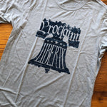 """Proclaim Liberty"" T-shirt - Rust red and Silver from The History List Store"