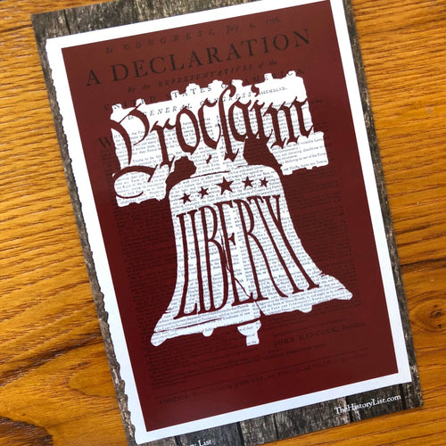 """Proclaim Liberty"" on a Boston broadside of the Declaration of Independence Postcard- Pack of 10 from The History List Store"