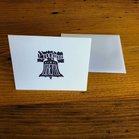 """Proclaim Liberty"" Note cards with envelopes - Set of 6 from The History List Store"