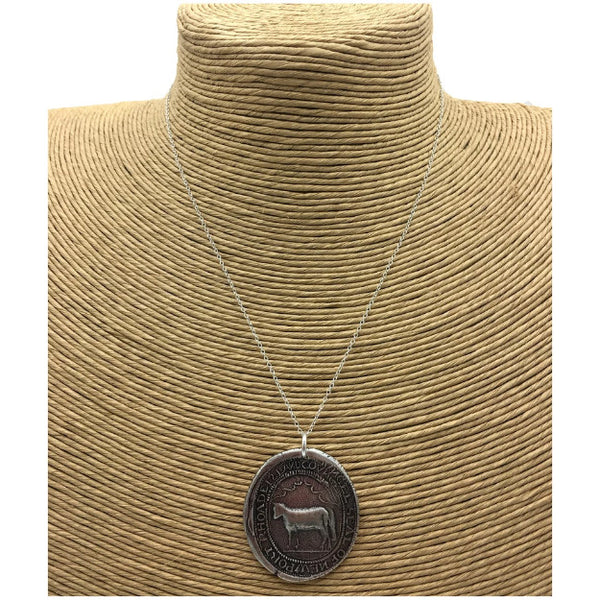 """Seal of  Newport Rhoade Island Covnsel"" Necklace - Sterling Silver from The History List Store"