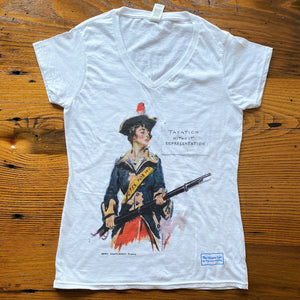 Revolutionary Suffragette Shirt with illustration by James Montgomery Flagg V-neck shirt