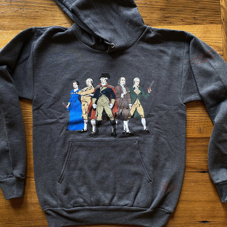"""Revolutionary Superheroes"" Hooded sweatshirt and Crewneck sweatshirt"
