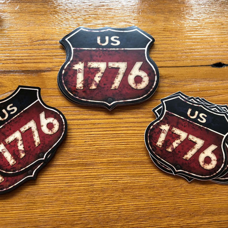 """Route 1776"" sticker from The History List Store"
