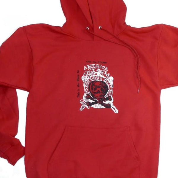 """Repeal of the Stamp Act"" Pullover Sweatshirt - Deep Red Color from The History List"