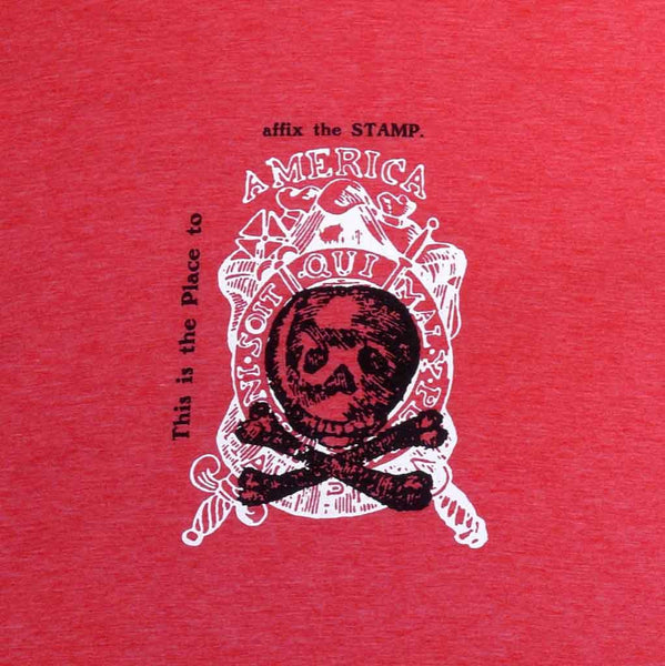 Repeal of the Stamp Act T-Shirt in Light Red Heather from The History List