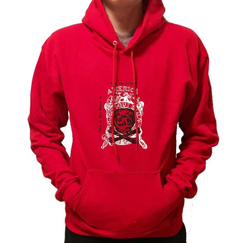 Repeal Of The Stamp Act Pullover Sweatshirt - Deep Red Color - Small / - Hoodies
