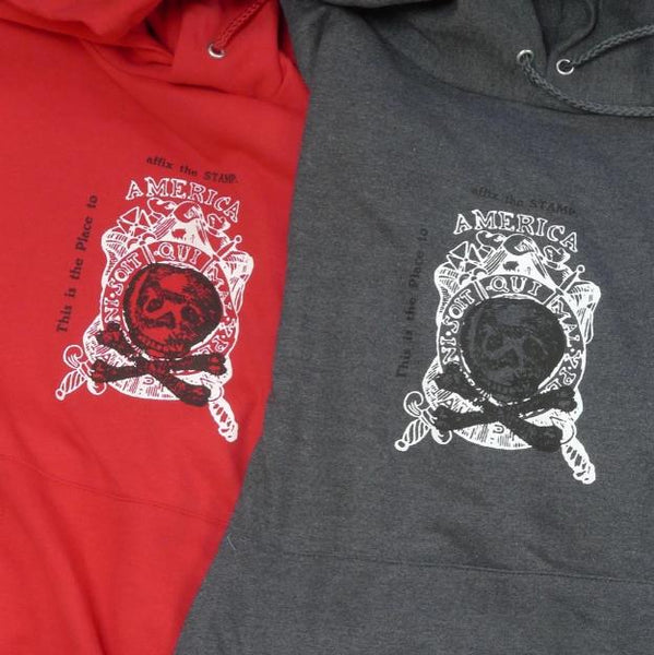 """Repeal of the Stamp Act"" Pullover Sweatshirt - Deep Red Color"