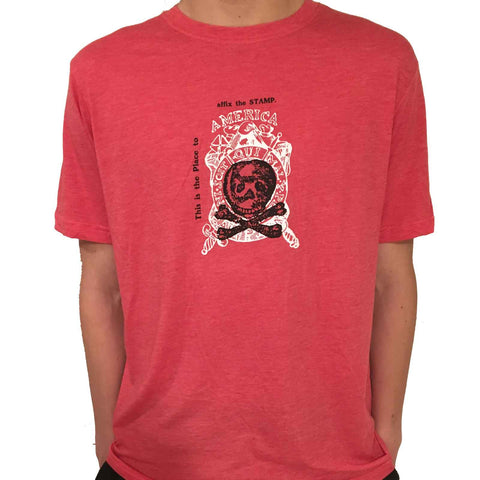 """Repeal of the Stamp Act"" T-Shirt - Light Red Heather from The History List Store"