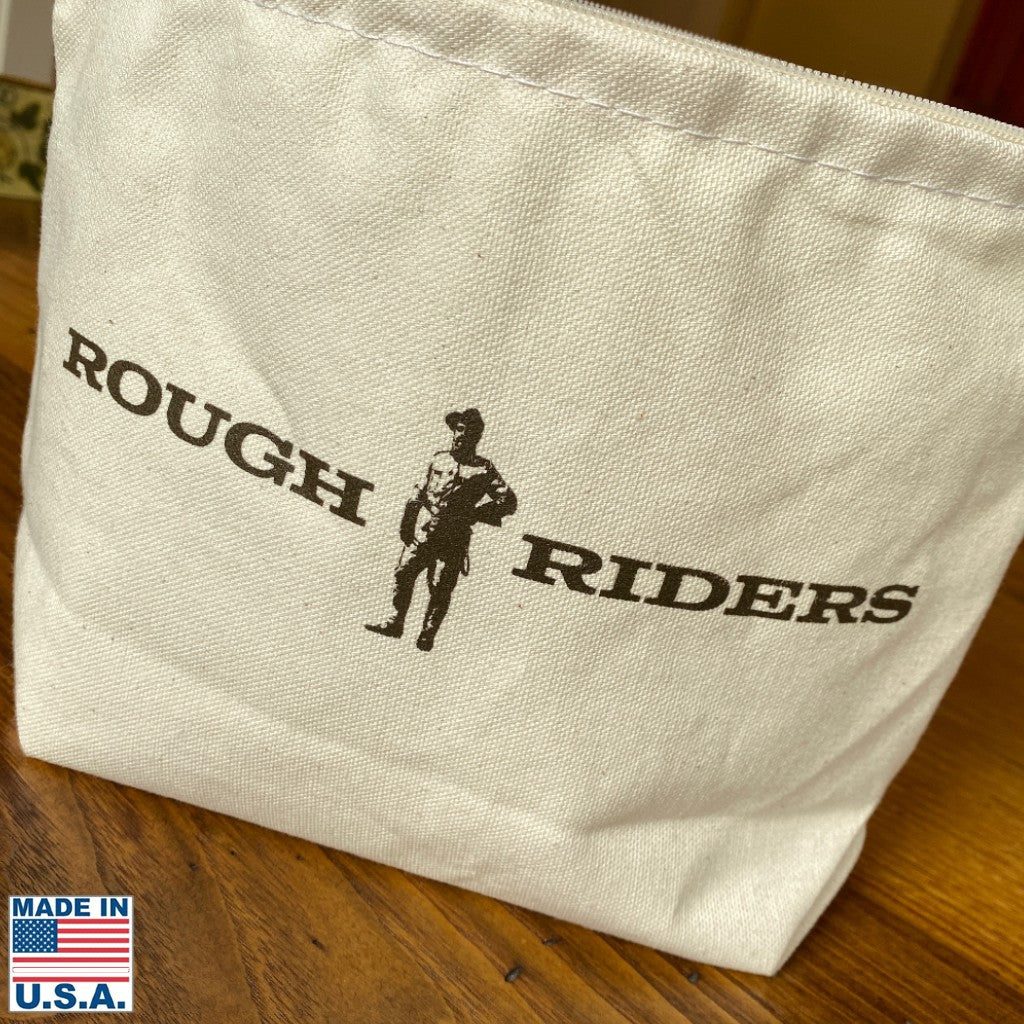 "Teddy Roosevelt ""Rough Riders"" small canvas bag for ""The Man in the Arena"""