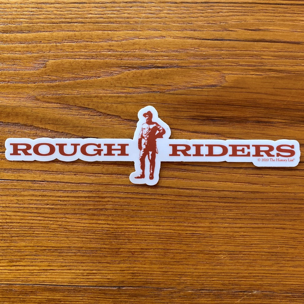 "Teddy Roosevelt ""Rough Riders"" Sticker"