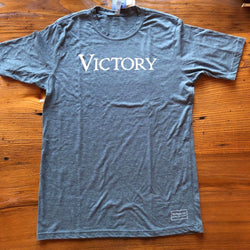 """Victory"" short-sleeved shirt - Indigo from The History List Store"