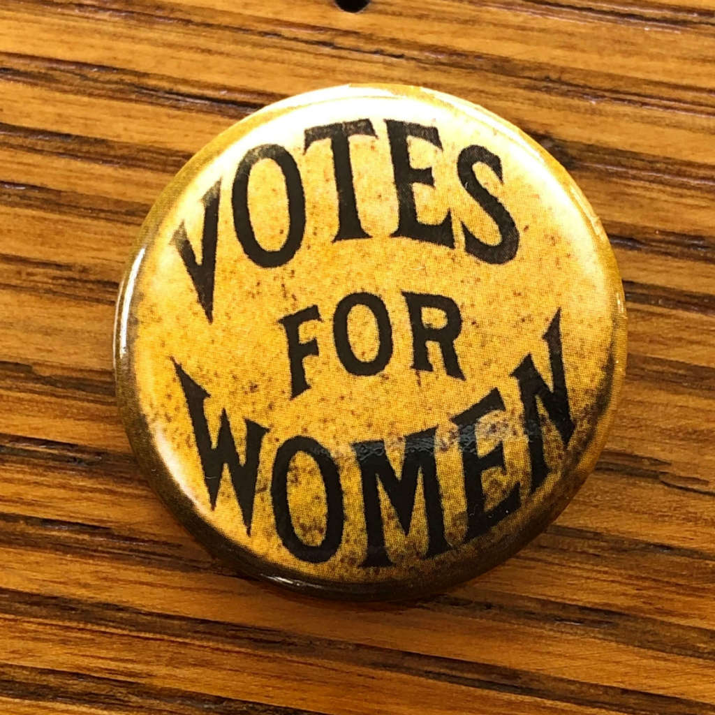 """Votes for Women"" Round sticker from The History List Store"