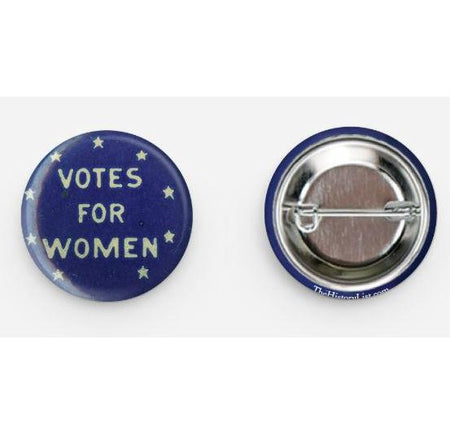 "Blue ""Votes for Women"" Button pin from The History List Store"