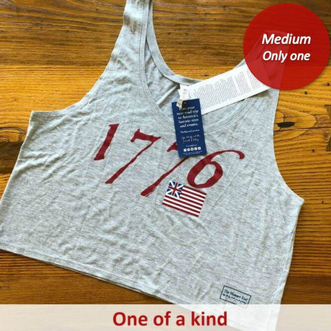 """We hold these truths - July 4, 1776"" Flowy crop top - Heather grey - Only one from The History List Store"
