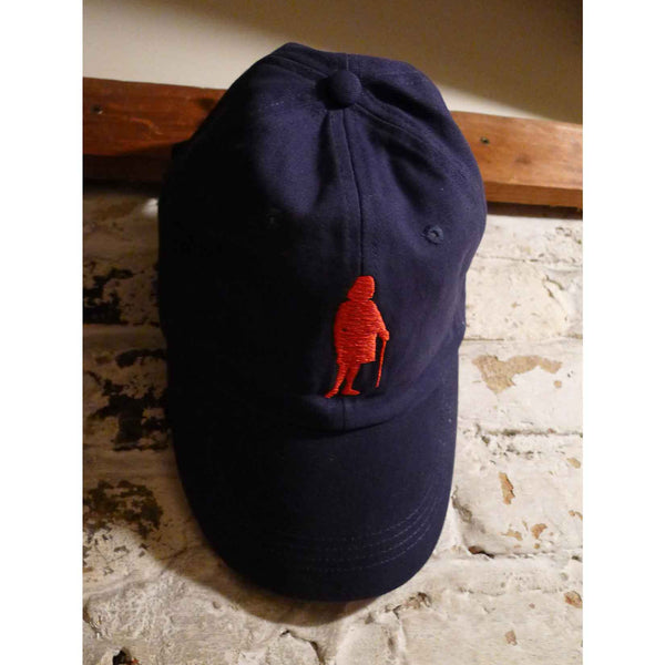 "Embroidered Ben Franklin ""History Nerd"" caps - Navy blue with red embroidery from The History List Store"