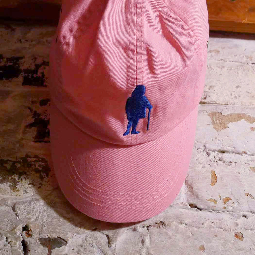 "Embroidered Ben Franklin ""History Nerd"" cap - Blue on pink cap from The History List Store"
