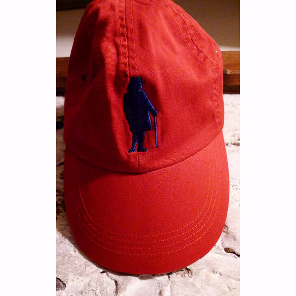 "Embroidered Ben Franklin ""History Nerd"" cap - Blue on red cap from The History List Store"
