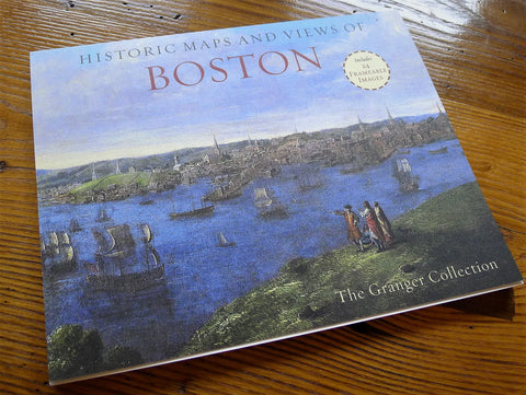 """Historic Maps and Views of Boston"" - from The Granger Collection"