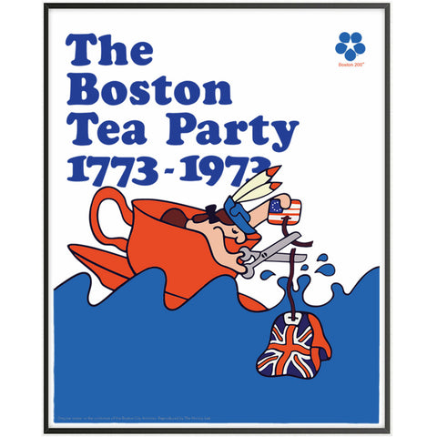 The Boston Tea Party Bicentennial Poster print - Comes in two sizes from The History List Store