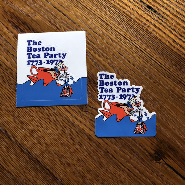 The Boston Tea Party Bicentennial Poster Sticker from The History List Store