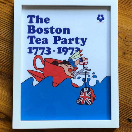 """The Boston Tea Party Bicentennial Poster"" limited edition archival print from The History List Store"