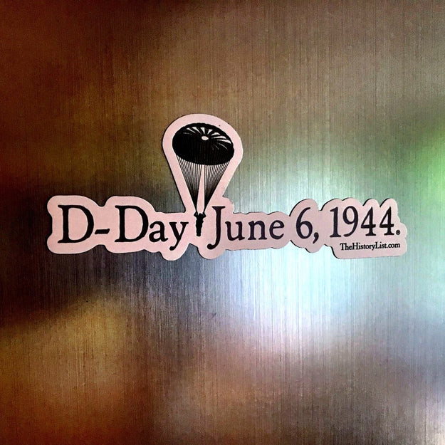 """D-Day June 6, 1944"" Magnet with WWII Paratrooper from The History List Store"